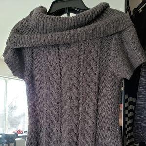 BCBG Max Azria gray cowl neck sweater L